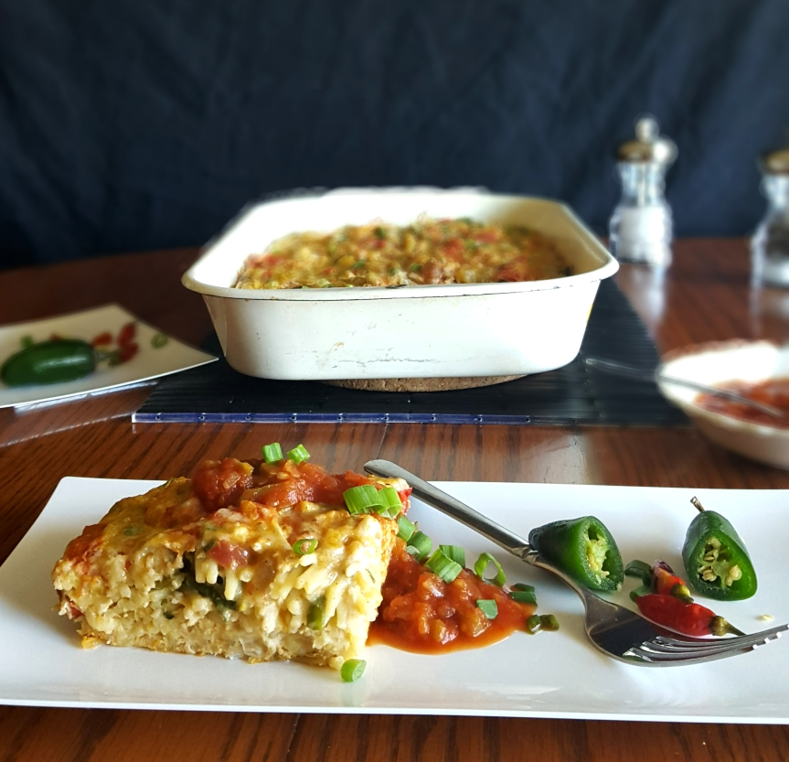 Green Chile (Left Overs)Frittata