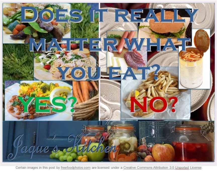 Does it matter what you eat?