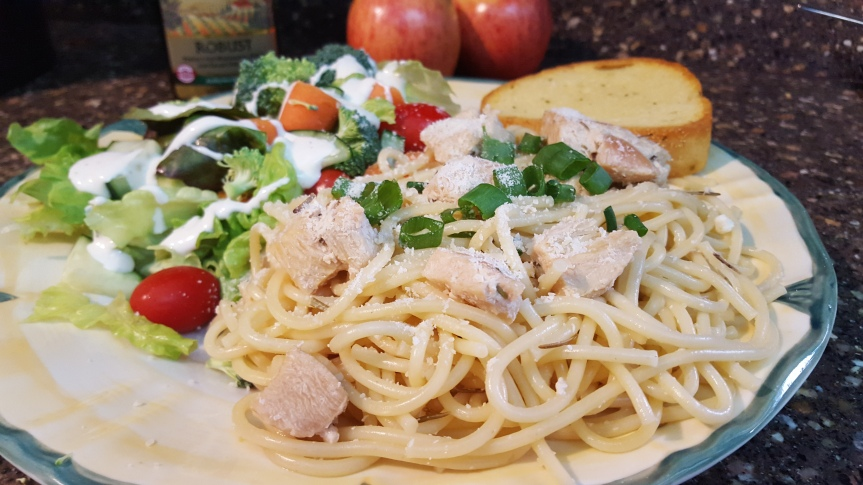Lemon Spaghetti with Chicken