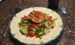 Paprika Chicken with Garden Fresh Pasta and Tomato Basil Sauce