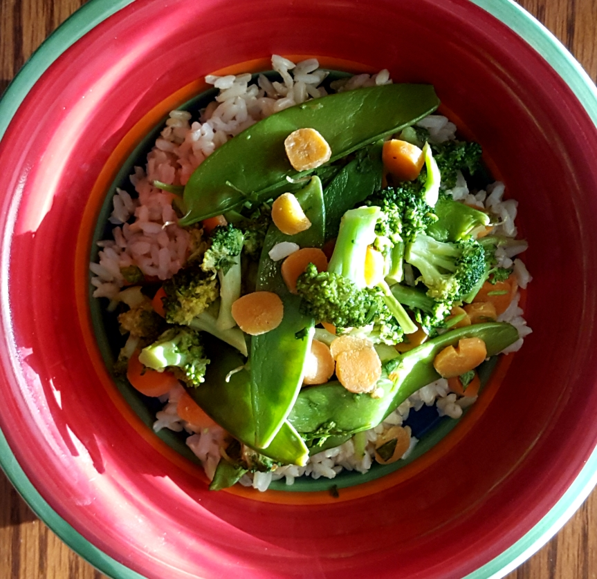 Vegetables with Spicy Honey PeanutSauce