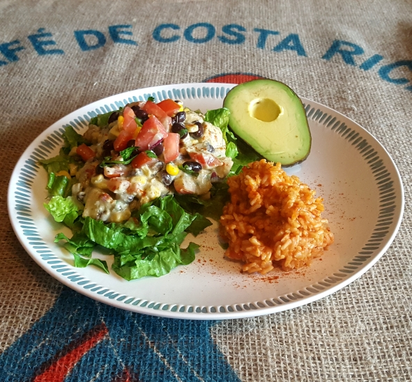 Black Bean and Avocado Salad with Spanish Rice