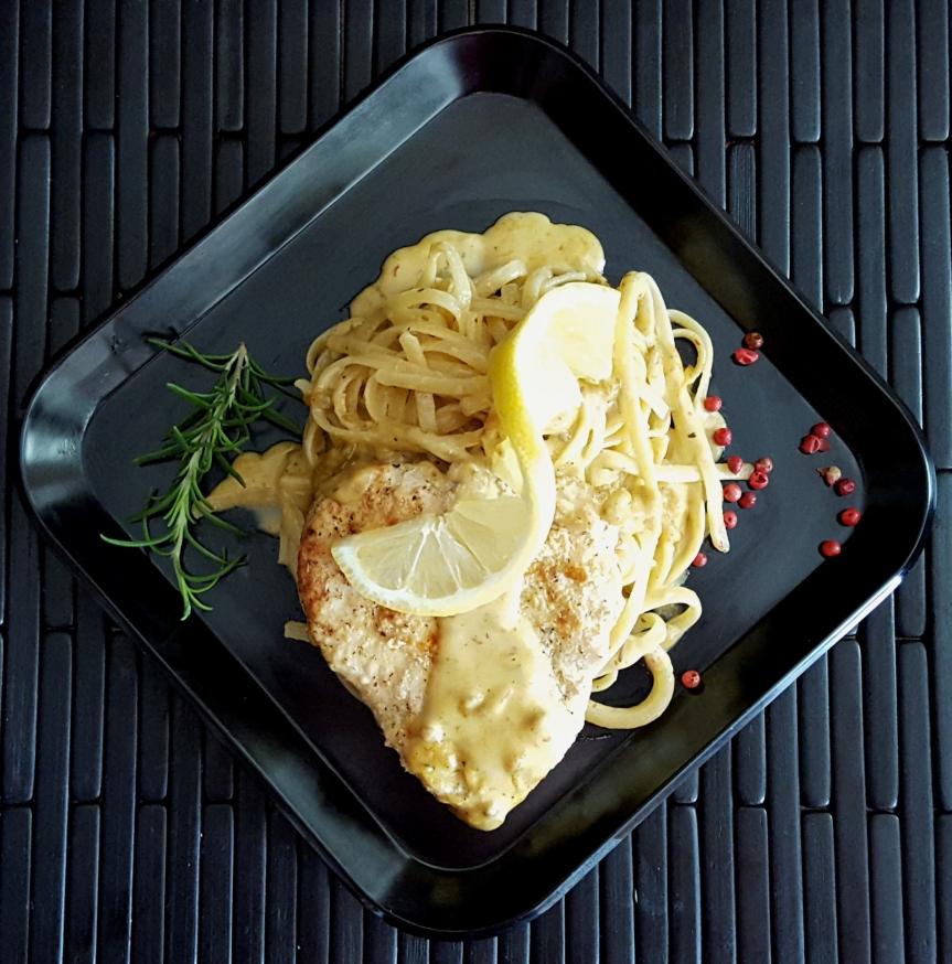 Lemon Pepper Chicken with Soleil CreamSauce