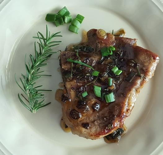 Rosemary Chardonnay Pork Chop